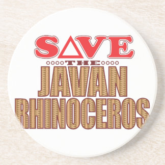 Javan Rhino Save Coaster