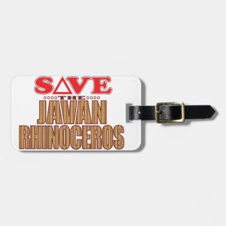 Javan Rhino Save Luggage Tag
