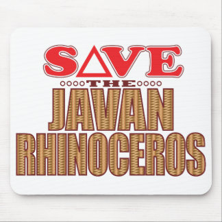 Javan Rhino Save Mouse Mat