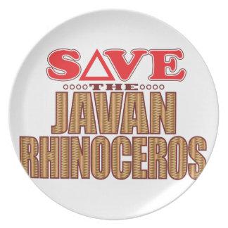 Javan Rhino Save Plate