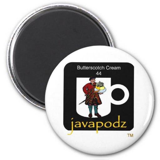 JavaPodz Butterscotch Cream Refrig Magnet 0806