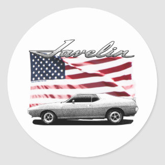 Javelin AMX muscle car Classic Round Sticker