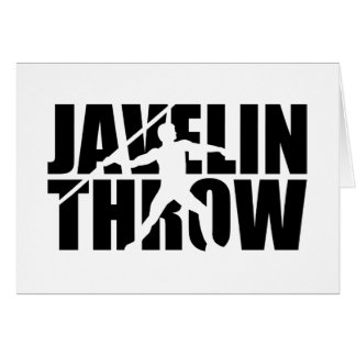 Javelin throw card