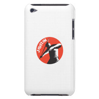 Javelin Throw Track and Field Athlete Circle Woodc iPod Touch Cases