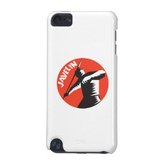 Javelin Throw Track and Field Athlete Circle Woodc iPod Touch (5th Generation) Covers