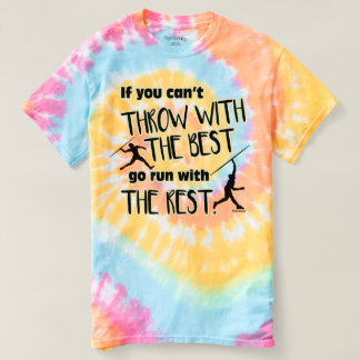 Javelin Throw With The Best- Women's Tie Dye T-Shirt