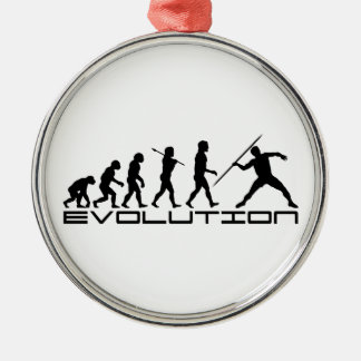 Javelin Track and Field Sport Evolution Art Christmas Ornament