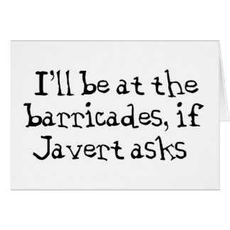 Javert Les Miserables Card