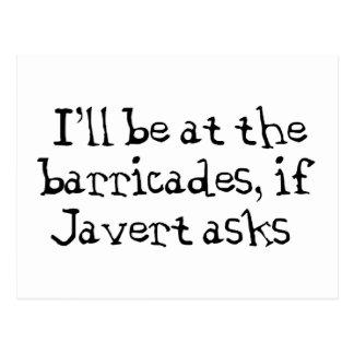 Javert Les Miserables Postcard