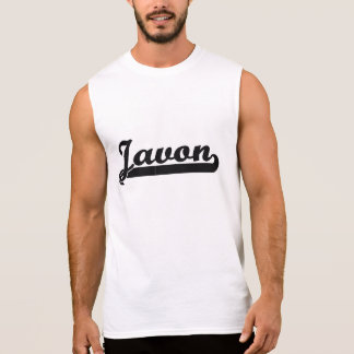 Javon Classic Retro Name Design Sleeveless T-shirt