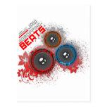 Jaw Dropping Beats - Music DJ Graffiti Urban Post Card