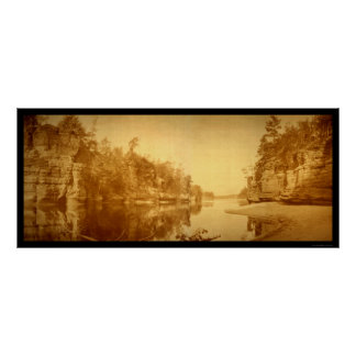 Jaws of the Wisconsin Dells Photo 1894 Poster