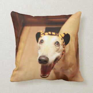 Jax with hobbes ears pillow