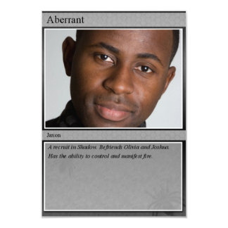 "Jaxon Trading Card 3.5"" X 5"" Invitation Card"