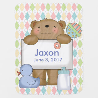 Jaxon's Good News Bear Personalized Gifts Baby Blankets