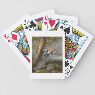 Jay, Green Woodpecker, Pigeons and Redstart, c.165 Poker Deck