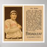 Jay Kirke Braves Baseball 1912 Print