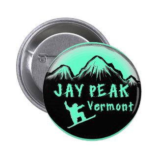 Jay Peak Vermont artistic skier 6 Cm Round Badge