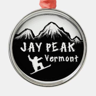 Jay Peak Vermont artistic skier Christmas Ornament