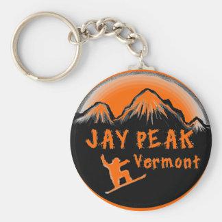 Jay Peak Vermont artistic skier Key Ring