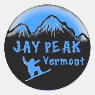 Jay Peak Vermont artistic skier Round Sticker