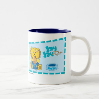 JayJay the Chow classic blue Two-Tone Coffee Mug