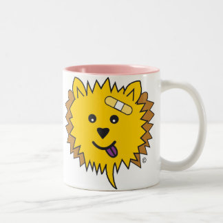 JayJay the Chow face Two-Tone Coffee Mug