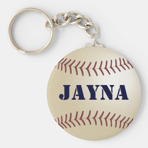 Jayna Baseball Keychain by 369MyName