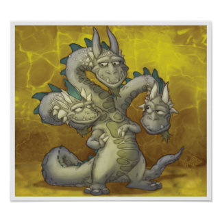 Jayne, Casey, Knowle the three headed dragon Poster