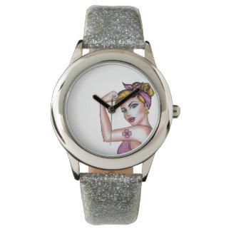 Jayne Watch - Silver Glitter