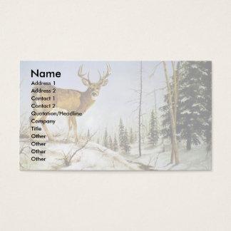 Jay's Peak, White Tail Deer Business Card