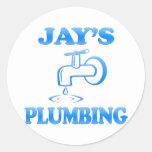 Jay's Plumbing Round Sticker