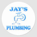 Jay's Plumbing Round Stickers