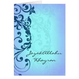 JazakAllah khayran - Islamic Hadith thank you card