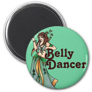Jazayre Belly Dancer 6 Cm Round Magnet