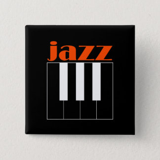 Jazz 15 Cm Square Badge