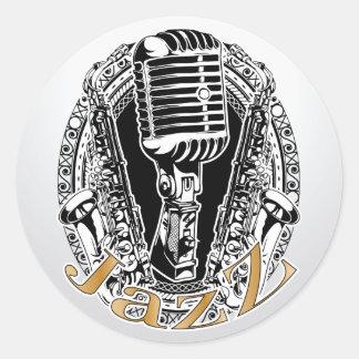 Jazz 2 ~ Jazz Sax Saxophone Band Music Round Sticker