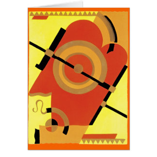Jazz Age Art Deco Abstract Greeting Card