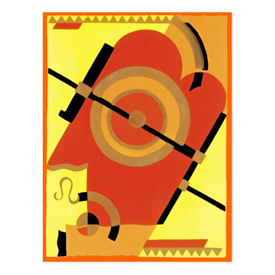 Jazz Age Art Deco Abstract Postcard