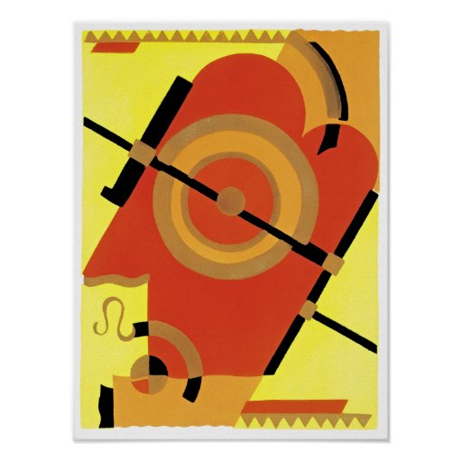 Jazz Age Art Deco Abstract Poster