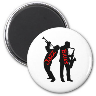 Jazz and Blues 6 Cm Round Magnet