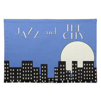 Jazz and the City (Blue) Placemat