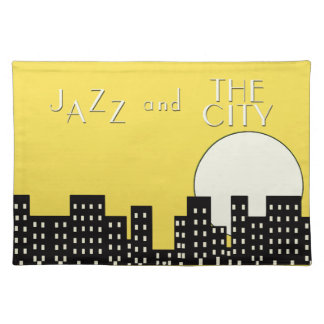 Jazz and the City (pastel orange) Placemat