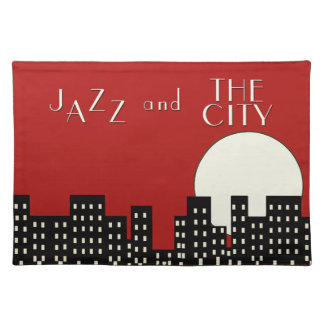 Jazz and the City (Red) Placemat