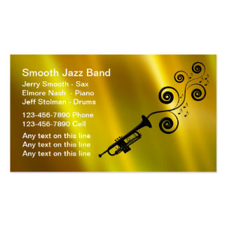 Business jazz band gifts t shirts art posters other for Band business cards