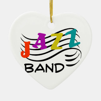 Jazz Band Ceramic Heart Decoration