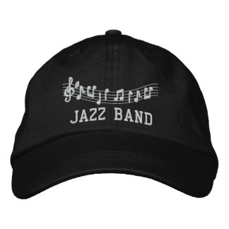 Jazz Band Embroidered Music Hat Embroidered Hats
