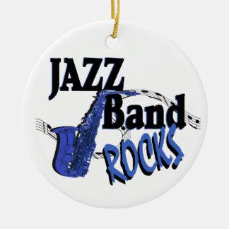 Jazz Band Rocks Round Ceramic Decoration