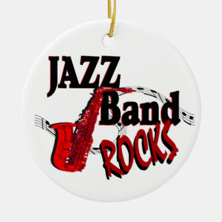 Jazz Band Rocks with Photo Round Ceramic Decoration