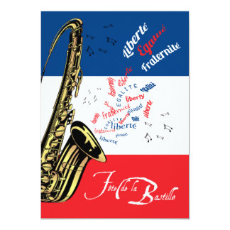 Jazz Bastille Day July 14 Invitation